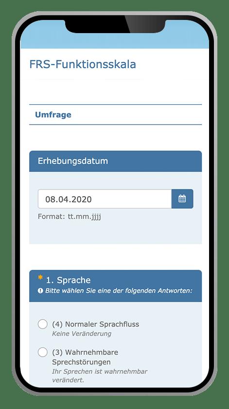 SMA-App FRS-Funktionsskala