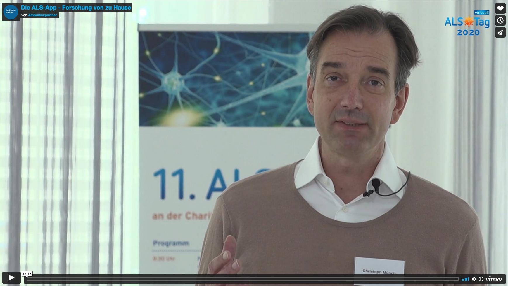 Video: Vorstellung der ALS-App auf dem ALS-Tag der Charité 2020
