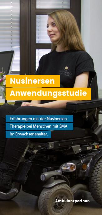 Flyer (PDF) zur Nusinersen Anwendungsstudie zum Download