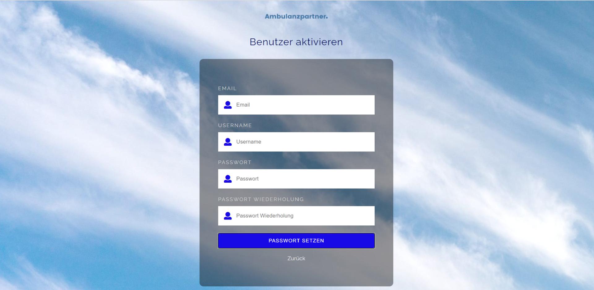 Registrierung Benutzer aktivieren